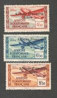 FRENCH EQUATORIAL AFRICA.....1941: Yvert PA17-19mnh** - Nuovi