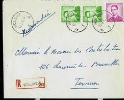 Doc. De WOLUWE - A 5 A - Du 15/03/63  En Rec. ( E ) - Marcophilie