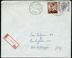 Doc. De WUUSTWEZEL - 2 B 2 - Du 30/04/73  En Rec. - Marcophilie