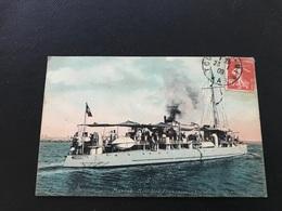 Marine Militaire Française «Arquebuse» Torpilleur D'Escadre - 1909 Timbrée - Oorlog