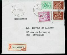 Doc. De ZAVENTEM - C 2 C - Du 24/10/73  En Rec. - Marcophilie