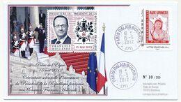 """Env. Elections Présidentielles 2012 - Timbre à Moi """"Aux Urnes"""" - 15 Mai 2012 + Vignettes Investiture F.Hollande - Personnalisés (MonTimbraMoi)"""