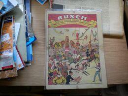 Old Poster Plakat Busch Gross Circus Wander Schau Altrenomiertes Erstklassiges Unterhehmen 21.5x39.5 Cm - Affiches