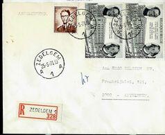 Doc. De ZEDELGEM - A 1 A - Du 25/05/71  En Rec. - Marcophilie