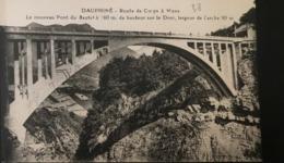 38 ISERE - Dauphiné Route De Corps à Mens - Le Nouveau Pont Du Sautet Sur Le Drac  -Pellafol - Altri Comuni