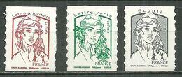 FRANCE MNH ** Adhésif Autocollant 1214-1215A Marianne De Ciappa Et Kawena Marianne Et La Jeunesse - Sellos Autoadhesivos