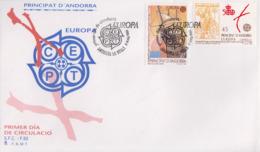 Enveloppe  FDC  1er  Jour    ANDORRE    ANDORRA   Découverte  De  L' Amérique  Par  Christophe  COLOMB   EUROPA    1992 - Europa-CEPT