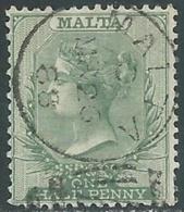 1885-90 MALTA USED SG 20 1/2d - RD4-4.12 - Malte (...-1964)
