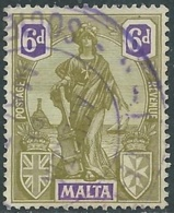 1922-26 MALTA USED SG 133 6d - RD1-6 - Malte (...-1964)