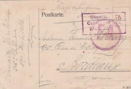 383-99  Kriegsgefangenensendung 1-7-1918 Lager Eichstätt-Bordeau. Zensurstempel: Geprüft  Gef. Lager  Eichstätt - Oorlog 1914-18
