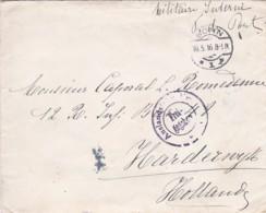 383-112  Brief 16-5-1916 Bonn-Harderwijk. Zensurstempel: Auslandstelle Emmerich Freigegeben. Stempel Achterzijde - Oorlog 1914-18