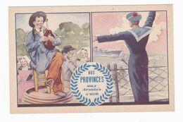 Carte Postale En Franchise Militaire - Nos Provinces Aux Armées - Le Breton - Military Service Stampless
