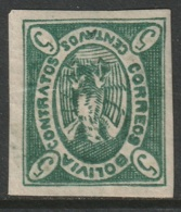 Bolivia 1867 Sc 2b  MH Disturbed Gum - Bolivia