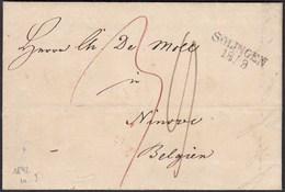 SOLINGEN L2 1842 Brief Nach NINOVE BELGIUM Taxiert  Mit Inhalt   (27335 - Pruisen