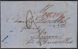 COBLENZ K2 1859 Brief PR.10 R Nach NINOVE BELGIUM Taxiert Mit Inhalt   (27336 - Pruisen