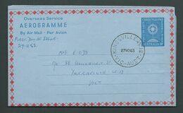 Australia 1963 Christmas Aerogramme Fine Used Kingsville Victoria FDI Cancel - Aerogrammes