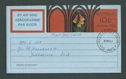 Australia 1967 Christmas Aerogramme Fine Used FDI Cancel - Aerogrammes
