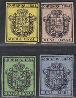 1854 */º Edifil: 28/31. ESCUDO DE ESPAÑA S. O. - 1850-68 Königreich: Isabella II.