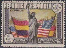 1937. * Edifil: 763. CL ANIVERSARIO DE LA CONSTITUCION DE EEUU - 1931-Heute: 2. Rep. - ... Juan Carlos I