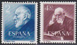1952. ** Edifil: 1119/20. RAMON CAJAL Y FERRAN - 1931-Heute: 2. Rep. - ... Juan Carlos I