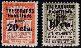 1936. * Edifil: AYUNTAMIENTO DE BARCELONA-TELEGRAFOS 10/11. Valor Clave - Barcelona