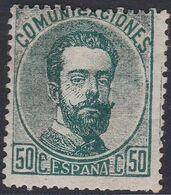 1872. * Edifil: 123. AMADEO I. CALCADO AL DORSO - 1872-73 Königreich: Amédée I.