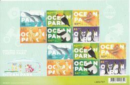 Hong Kong 2020, Ocean Park, Birds, Hornbill, Penguins, Giant Panda, Dolphin, Monkey, Sheetlet Of 2x Set Of 6v, MNH** - Penguins