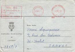 ANGOLA EMA DE LUANDA SUR LETTRE POUR LA FRANCE 1950 - Angola
