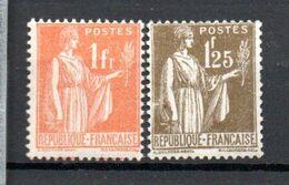 K21 France Beau N° 286 + 287 ** à 10% De La Côte . A Saisir !!! - 1932-39 Peace