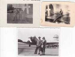 AVIAZIONE MILITARE E CIVILE - LOTTO 3 FOTO  ANNI '30 / 50 CIRCA - FORMATI VARI - LOCALITA' DA IDENTIFICARE - Aviazione