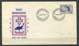 DANEMARK 1967 - Env 1er Jour - Poisson - Obliteration 9 Novembre 1967 - Lettere