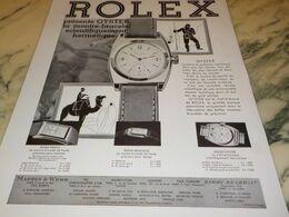 ANCIENNE PUBLICITE   MONTRE OYSTER DE ROLEX  1932 - Juwelen & Horloges