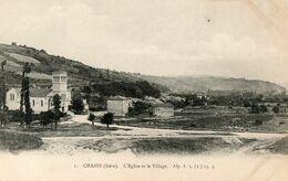 38. 2 CPA. CHASSE. L'église Et Le Village - L'entrée - Nouvelle église - Scan Du Verso - - France