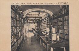 FIRENZE-CALZOLERIA TOSCANA-CARTOLINA CON PUBBLICITÀ AL RETRO-NON VIAGGIATA-1925-1935 - Firenze (Florence)