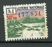 VIGNETTE DE BILLET DE LOTERIE NATIONALE - 38e Tirage Année 1952 - A1  (TONKIN) - Erinnophilie