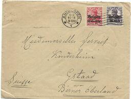 193 - 11 - Enveloppe Envoyée De Anvers - Timbres Allemands Surchargés 1918 - WO1