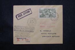 MADAGASCAR - Enveloppe En Recommandé Par 1er Vol Tananarive / Lourenço Marquès En 1947 Et Retour - L 69174 - Covers & Documents