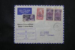 A.E.F. - Enveloppe Par 1er Vol Congo / Sénégal En 1937 - L 69179 - Lettres & Documents
