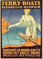 Posters Op Postkaart. Collectie Roland Florizoone - Zeebrugge (DOOS 7) - Zeebrugge