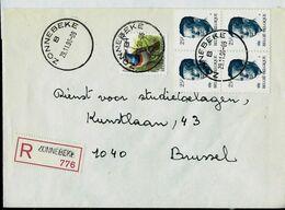 Doc. De ZONNEBEKE - B - Du 29/11/90 - En Rec. (E ) - Marcophilie