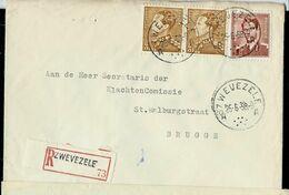 Doc. De ZWEVEZELE - A A -  Du 25/06/58 - En Rec. (E ) - Marcophilie