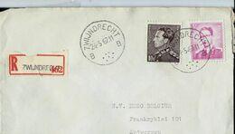 Doc. De ZWIJNDRECHT - B B - Du 24/05/67 - En Rec. (E ) - Marcophilie