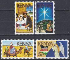 Kenia Kenya 1986 Religion Christentum Weihnachten Christmas Noel Navidad Natale Engel Angels Frieden Peace, Mi. 379-2 ** - Kenia (1963-...)