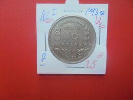 Albert 1er. 10 FRANCS 1930 VL POS.B  (A.1) - 10. 10 Francos & 2 Belgas