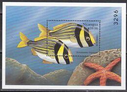 Tr_ Nicaragua 1999 - Mi.Nr. Block 287 - Postfrisch MNH - Tiere Animals Fische Fishes - Fishes