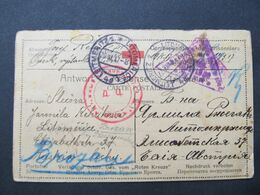 KARTE Prisonniers De Guerre Kriegsgefangenenpost 1917 Leitmeritz ////  D*45604 - 1917-1923 Republic & Soviet Republic