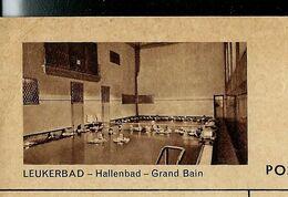 Carte Illustrée Obl. N° 163 - 0159 F - LEUKERBAD - Hallenbad - Grand Bain  - Obl. Leukerbad 09/01/50 - Entiers Postaux