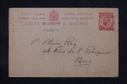 ROYAUME UNI - Entier Postal Commercial ( Repiquage Au Dos ) De Londres En 1914 Pour Paris - L 69201 - Postwaardestukken