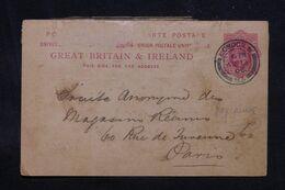 ROYAUME UNI - Entier Postal Commercial ( Repiquage Au Dos ) De Londres En 1906 Pour Paris - L 69202 - Postwaardestukken