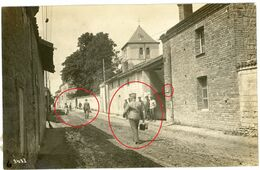 08 - Ménil-Lépinois - Rue Scene - (Rethel) Soldats  Allemande Guerre 14-18 Carte Photo  WWI - Otros Municipios